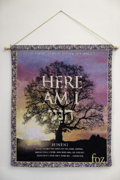 """Here Am I"" Wall Hanging"